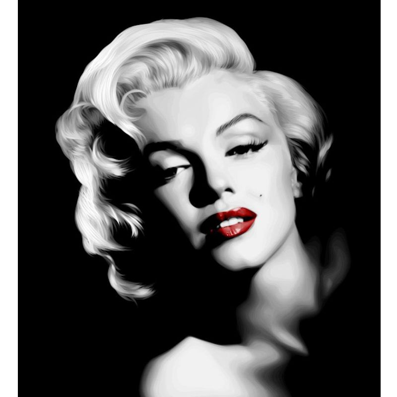 Diamond Painting Marilyn Monroe 5D DIY Round Diamond Embroidery Mosaic Kit Portraits Rhinestone <font><b>Picture</b></font> for Home Decoration