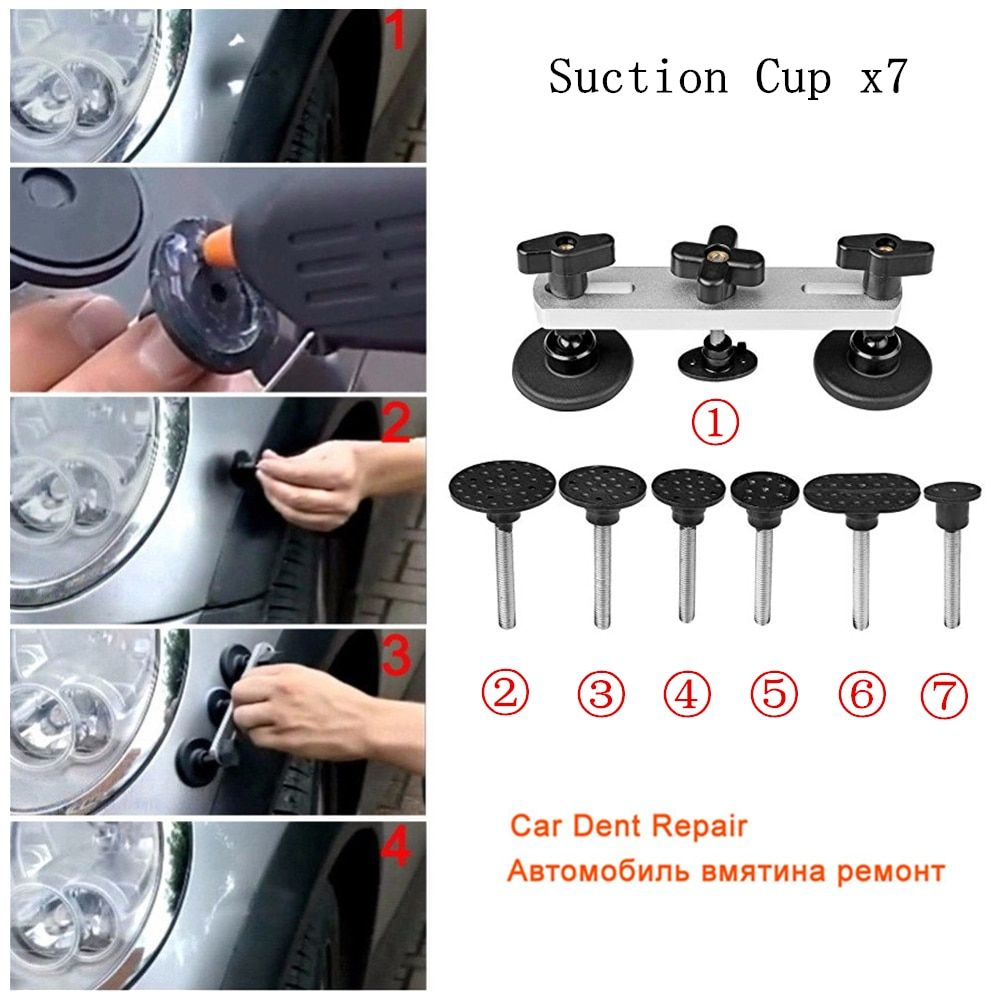 PDR Tools Car Paintless Dent Remover Pulling Bridge Dent Removal Hand Tool Set For Car Dent Repair Tools with 7 x Puller Tabs