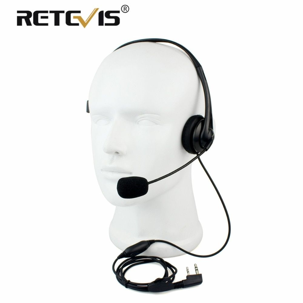 2Pin Walkie Talkie Headset Sponge Earpad Earpiece PPT Mic Accessories For Kenwood Baofeng UV-5R BF-888S Retevis H777 RT5R C9009A