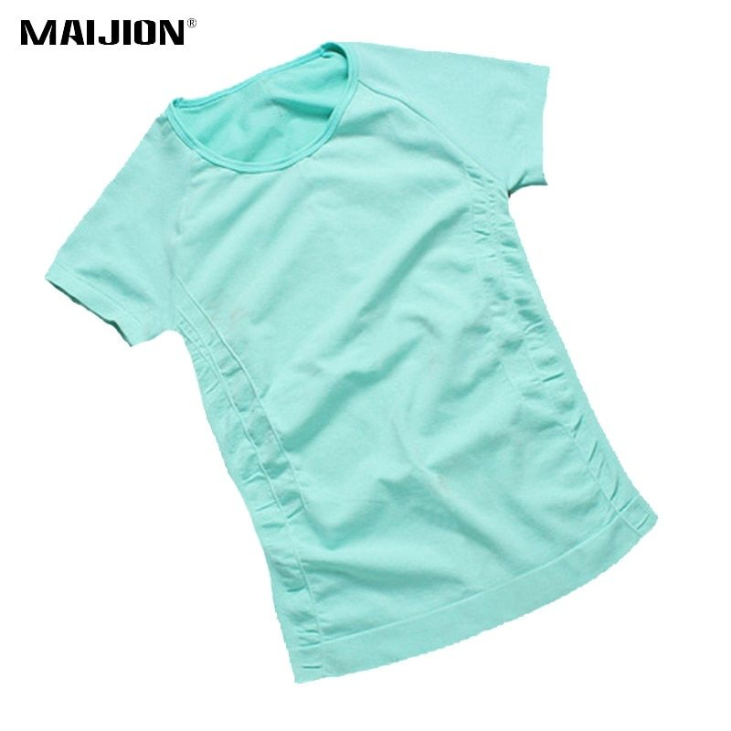 MAIJION Quick Dry Short Sleeve Sports Running T-shirt For Women , Specialty Fitness Athletic Running Tops Gym Yoga Tees Clothing