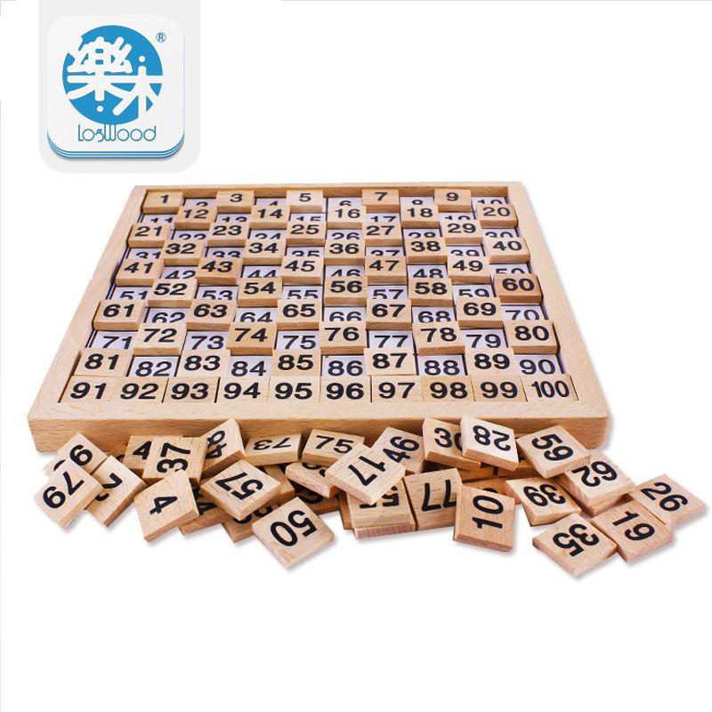 Montessori jouets éducatifs en bois 1-100 numérique cognitif mathématiques jouets enseignement logarithme Version enfant cadeau d'apprentissage précoce