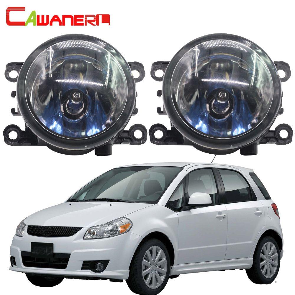 Cawanerl 2 Pieces 100W Car Front Halogen Fog Light Daytime Running Lamp DRL 12V High Power For Suzuki SX4 (EY, GY) 2006-2014