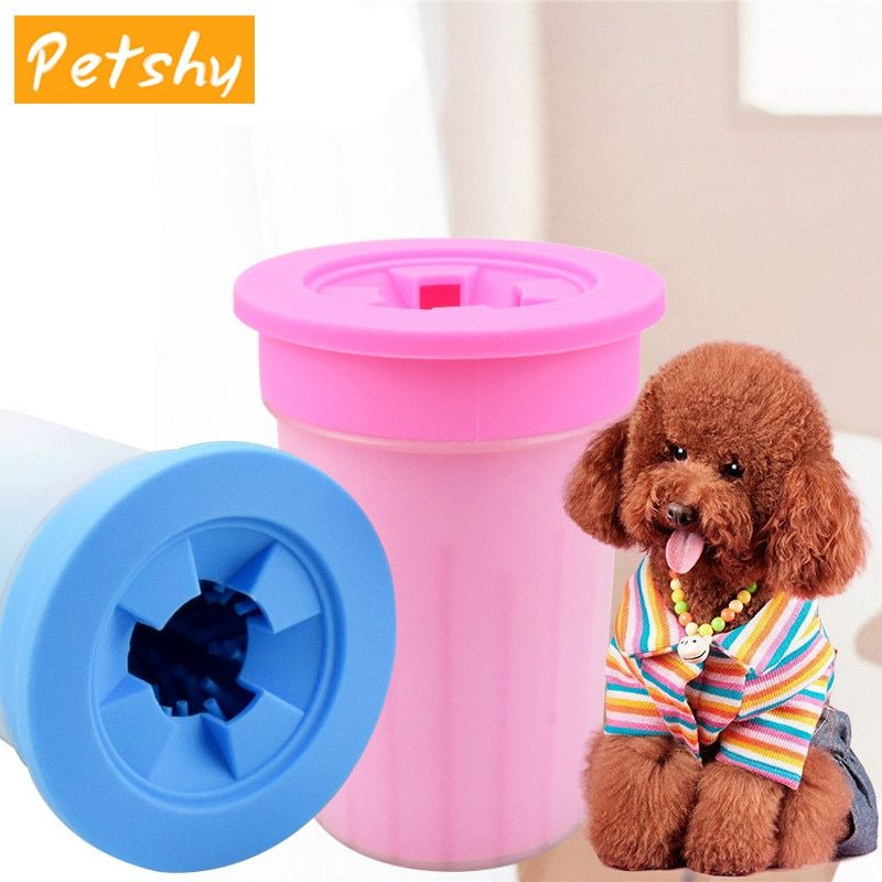 Petshy Soft Silicone Pet Foot Washer Cup Dog Cat Paw Foot Massage Cleaner Wash Brush Cup For Clean Pet Puppy Paws Muddy Feet