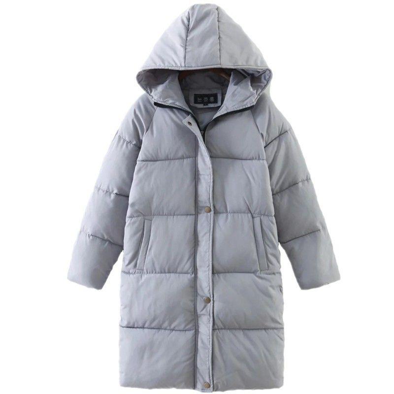 Nouveau 2018 Veste D'hiver Manteau Femmes Vers Le Bas Parka Plus La Taille Chaud Épais Long Lâche À Capuche Neige Usure Coton Rembourré Matelassé veste