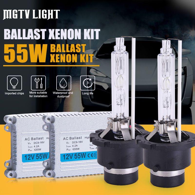 MGTV LIGHT High Quality 12V 55W Hid Xenon Kit H1 H3 H7 H27 H11 H4 Bi Xenon Hi/Low 9005 9006 D2S D2H 9012 H27 880 Headlight