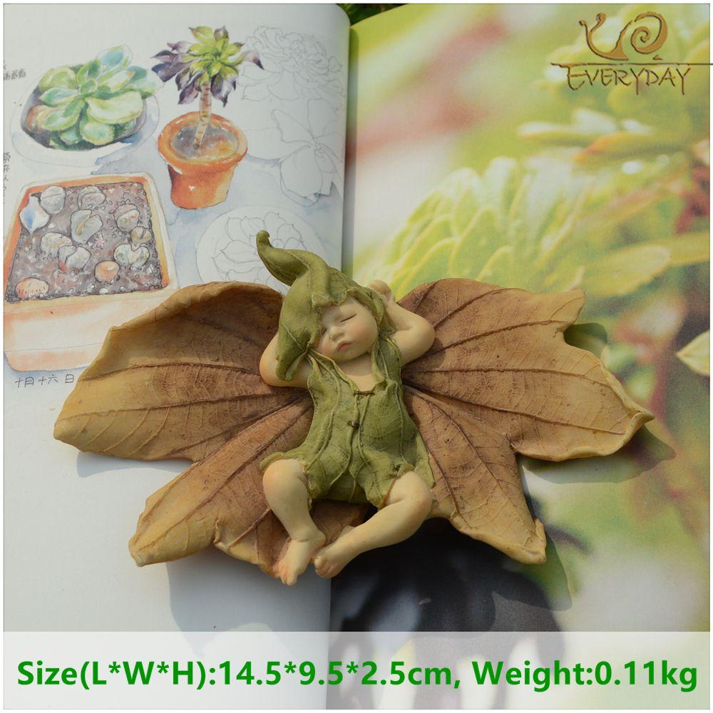 Tous les jours Collection Ange Figurine Miniature Fée Jardin Ornement Feuille bébé arbre De Noël Décoration Pour La Maison De Noël cadeau