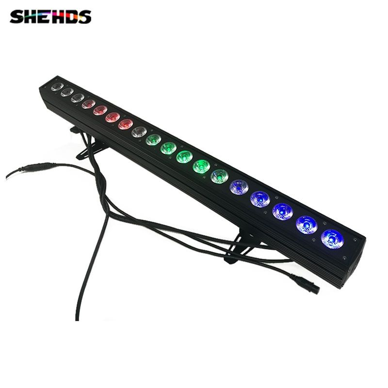 4pcs/lot 18x12W RGBW 4IN1 Led Wall Wash Light DMX Led Bar DMX Line Bar Wash Stage Light For Dj Indoor horse race lamp