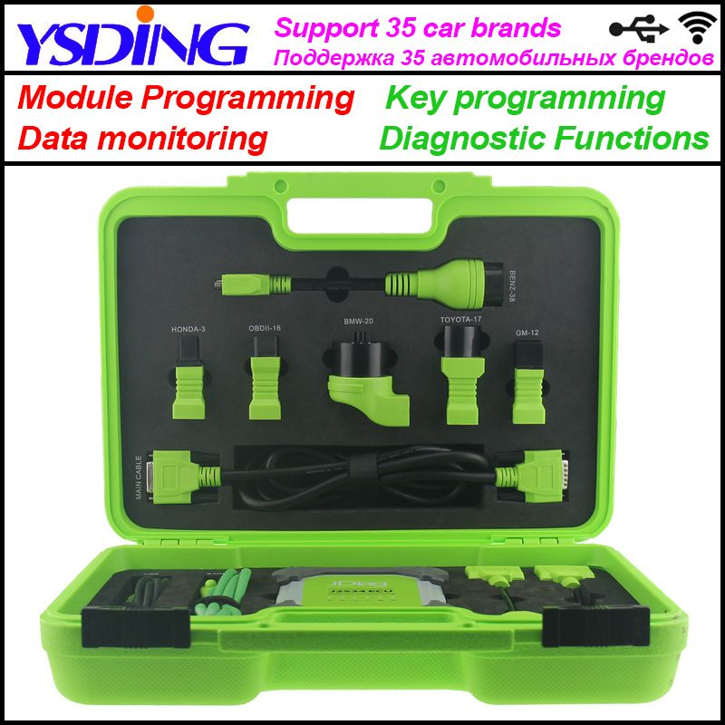 JDiag Elite II Pro J2534 Diagnostic & ECU programming Tool WIFI auto scanner Tool Full Adapters Replace MaxiSys Pro MS908