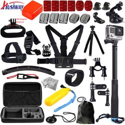 Husiway For all gopro accessories set kit mount for Go pro hero3 Black Edition / gopro hero 6/5/4/3/2/ xiaoyi mi 13E