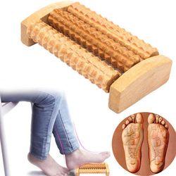 New Wooden Foot Roller Wood Perawatan Pijat Refleksi Relax Bantuan Massager Hadiah Pijat Kaki Spa