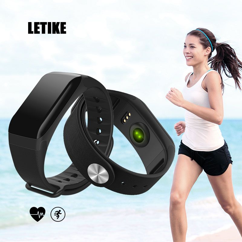 LETIKE Blood Pressure Smart Bracelet Sport Pedometer Fitness Tracker Wrist Smartband Pulse Measure Waterproof For IOS Android