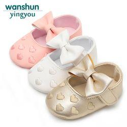 Bebe PU cuero bebé niño mocasines Moccs zapatos arco franja Soft Soled calzado antideslizante cuna zapatos