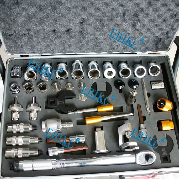 Liseron ERIKC 40 pieces of common rail injector tool , common rail injectors repair removal tools