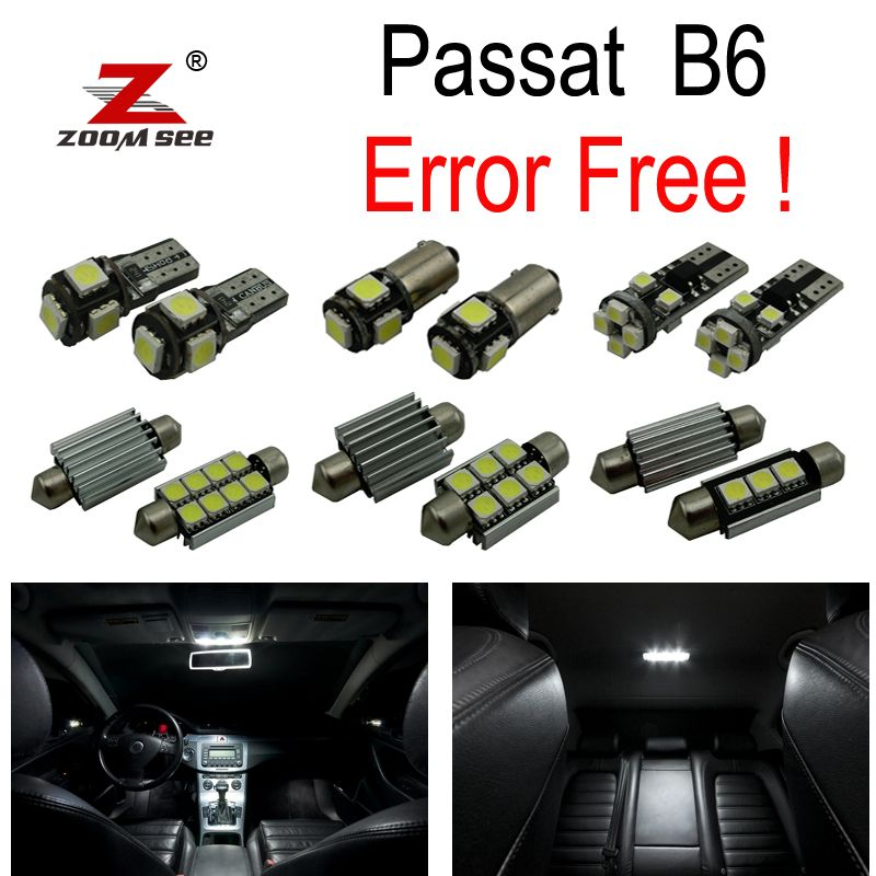 16pcs error free for Volkswagen VW Passat B6 Sedan Wagon LED bulb Interior dome map Light Kit (2006-2011)