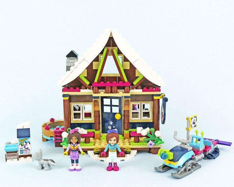 514 unids 01040 Amigos Girl Series Bloques de Construcción Nieve complejo chalet de los niños Ladrillos regalos Juguetes Compatible Legoings 41323