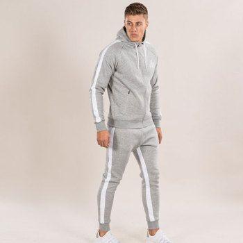 Для мужчин комплекты 2018 модная одежда с длинными рукавами Тонкий Пот костюмы толстовки костюм Толстовка двух частей брюки мужской пиджак + ...