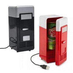 Mini nevera portátil USB calentador nevera refrigerador de gadget refrigerador Beverage drink cans enfriador y calentador