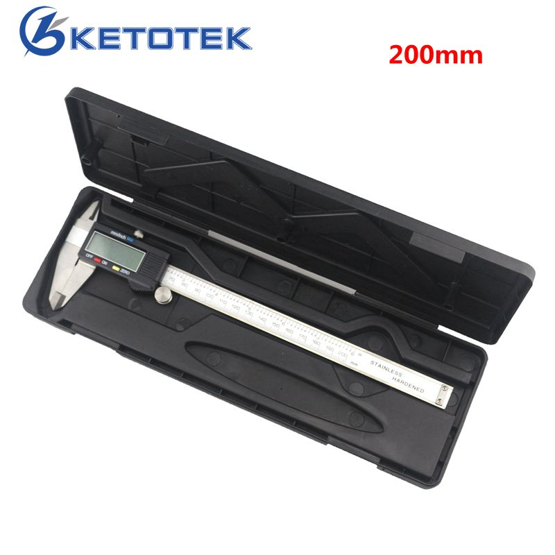 Electronic Digital Vernier Caliper 200mm 8 inch Stainless Steel Caliper Ruller Measuring Gauge Diagnostic-tool 0.01mm Micrometer