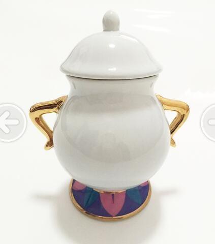 Offre spéciale beauté et la bête sucrier Pot Geniune en céramique café Drinkware dessin animé cadeau de noël livraison directe poste rapide