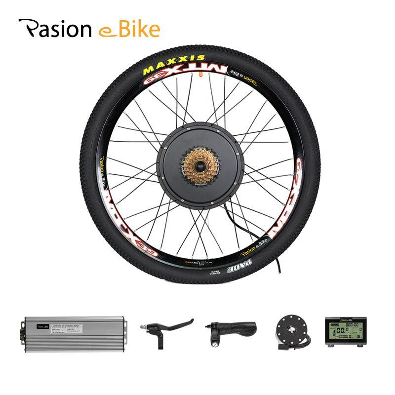 PASION E BIKE 48V 1500W Motor Wheel Electric Bike Kit Electric Bicycle Conversion Kit for 20 24 26 700C 28 29in Rear Wheel Motor