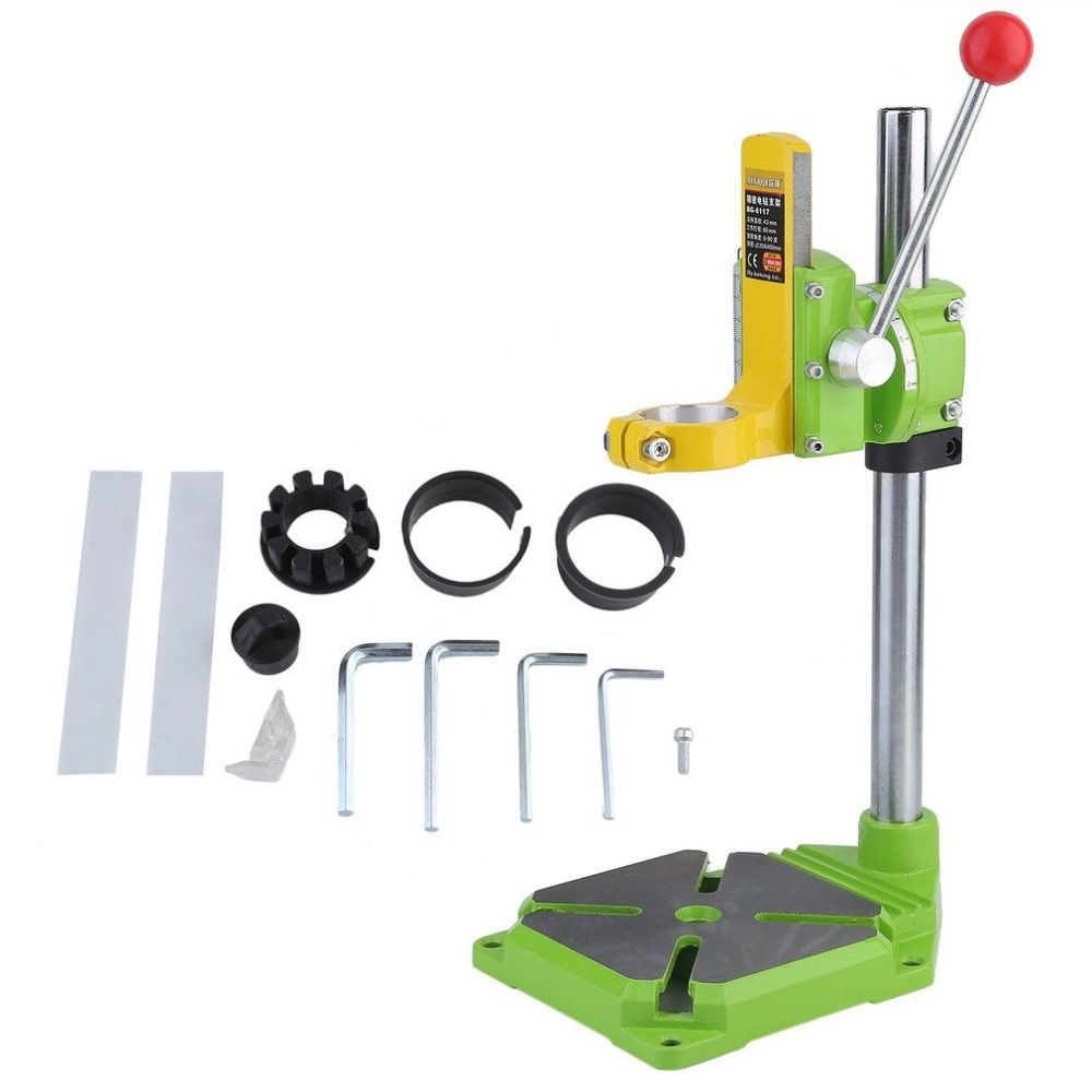 Electric Power Drill Press Stand Table Adjustable Workbench Repair Tool Clamp Drilling Collet Table Rotary 90 degree for Drill
