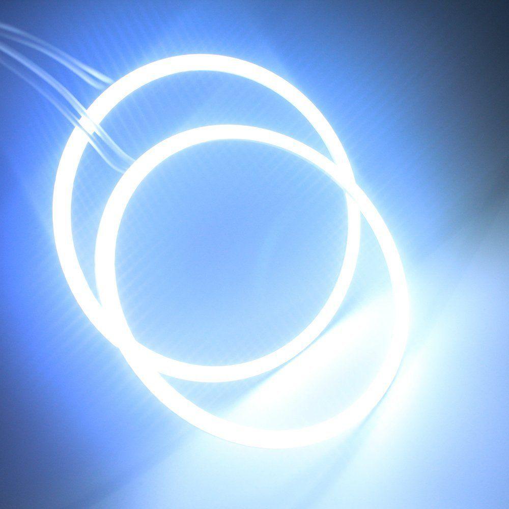 En espérant voiture COB ange yeux 140mm 1 paire Auto Halo anneaux COB 140 MM ange yeux voiture phare blanc rouge bleu 12 V Led