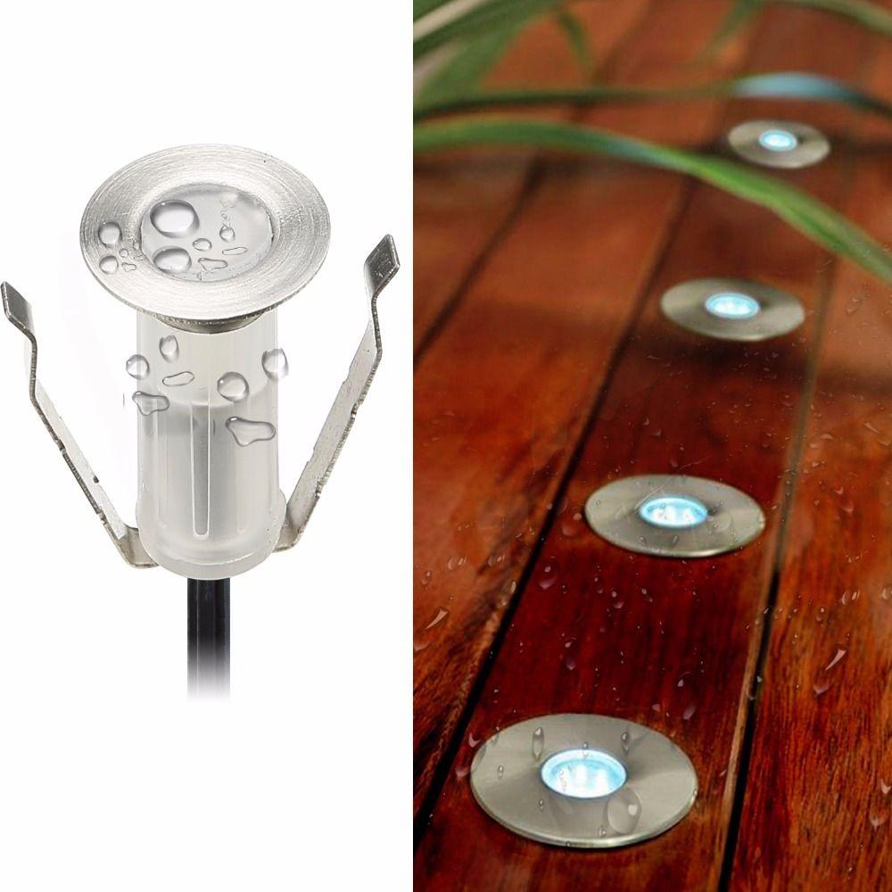 19mm diamètre Mini petite taille LED lampe de Patio lumière pour jardin/bâtiment Hall/Hotell/Villa pont/pied encastré dans le sol/mur