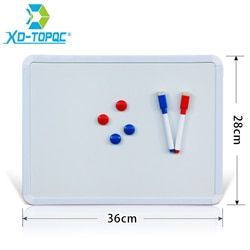 XINDI 28*36cm Magnetic Whiteboard PVC Frame Message White Board On Fridge For Home Decoration Message Drawing Board Notes WB01
