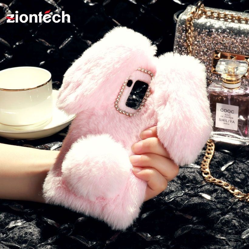 ZionTech Phone Cover Case For Bluboo S8 Plus 6.0 inch Cases Soft Back Covers Anti-fall Shell Fashion Hosuing Bags Rabbit fluff