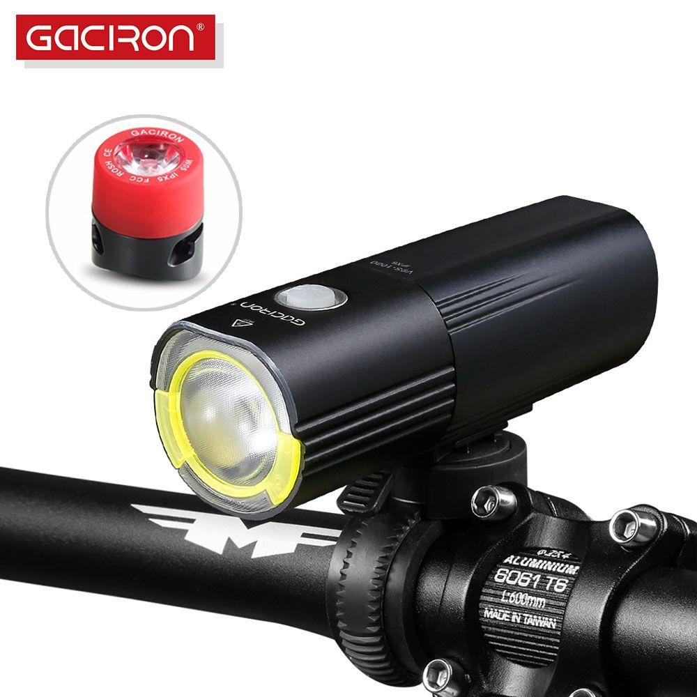 GACIRON Bicycle bike Headlight Waterproof 1000 Lumens MTB Cycling Flash Light Front LED Torch Light Power bank bike accessories
