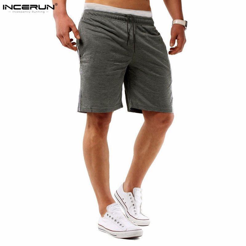 2018 nuevos mens del verano masculino Pantalones cortos de entrenamiento de los hombres Pantalones cortos Bermuda con cordón diseño sólido llano hombres pantalones cortos playa Pantalones cortos
