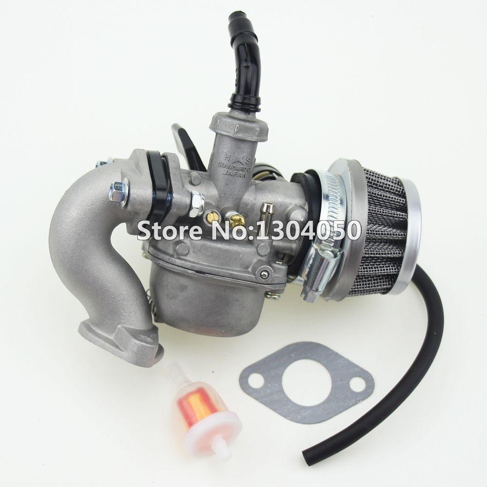 PZ19 19mm Hand Choke Carburetor Carb Intake Pipe Air Filter Fuel Filter 50cc 70cc 90cc 110cc 125cc Quad ATV Taotao Sunl new