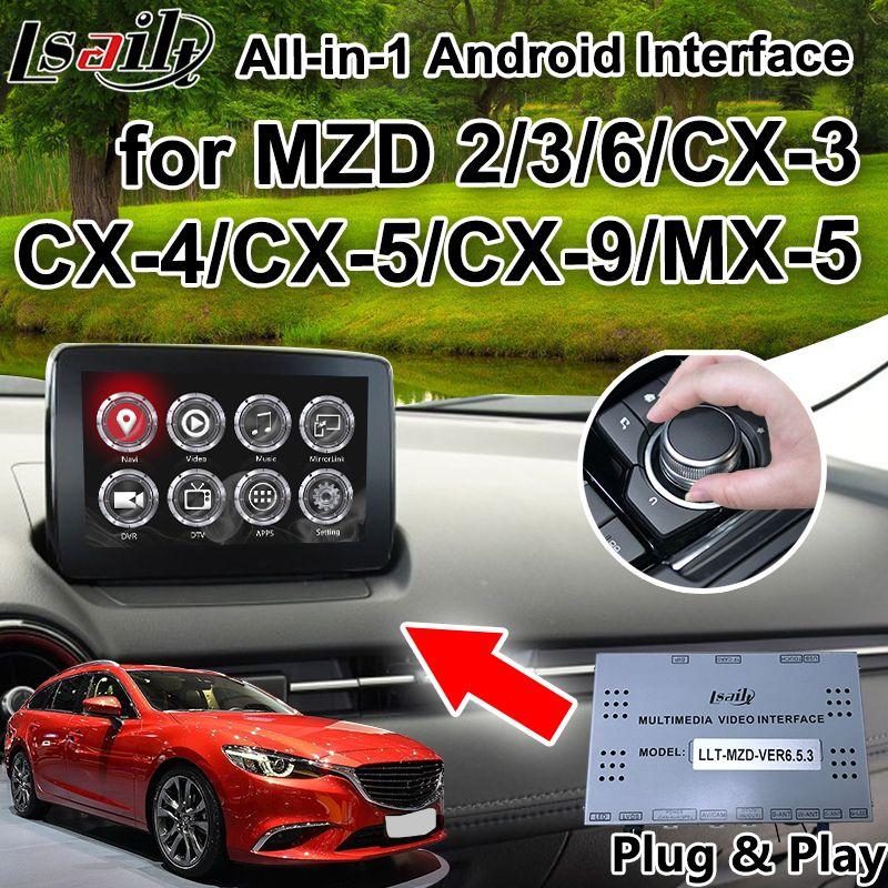 Alle-in-1 Plug & Play Android Auto GPS Navigation box für 2014-2018 Mazda 2/ 3/6/MX-5/CX-5/CX-9 mit carplay youtube LVDS ausgang etc.