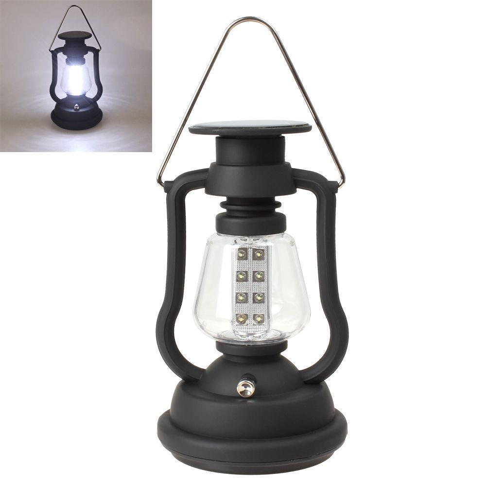 Chaude Vente chaude Super Lumineux En Plein Air 16 Led Panneau Solaire Manivelle Dynamo Lampe Camping Lanterne