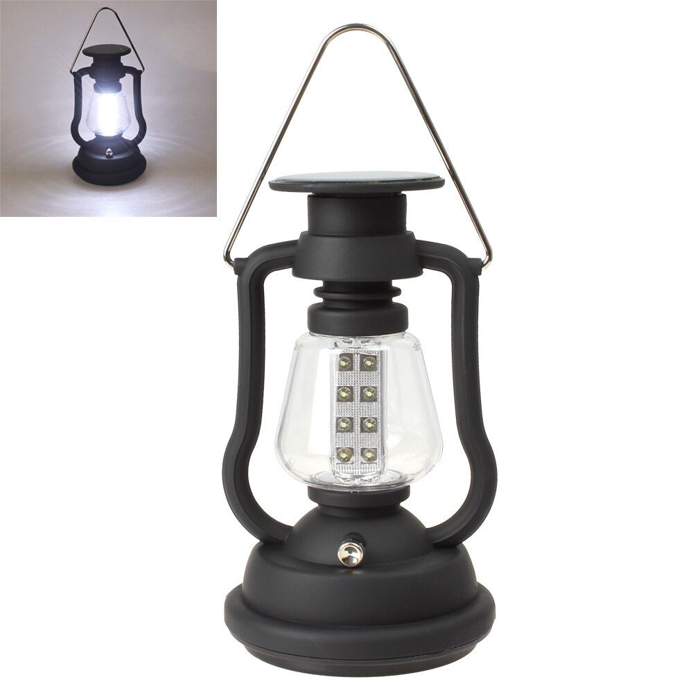 Offre spéciale chaude Extérieur Lumineux Superbe 16 Led Solaire Panneau Manivelle Dynamo Lampe Lanterne De Camping