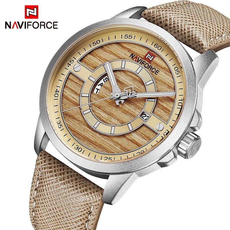 Top Marke Luxus NAVIFORCE Uhren Männer Mode Casual Leder Quarz Datum Uhr Männlichen Sport Wasserdichte Armbanduhr Montre Homme