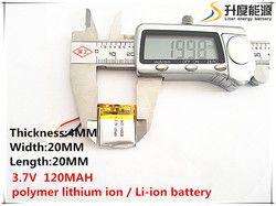 5 pcs [SD] 3.7 V, 120 mAh, [402020] Polimer lithium ion/baterai Li-ion untuk MAINAN, POWER BANK, GPS, mp3, mp4, ponsel, speaker