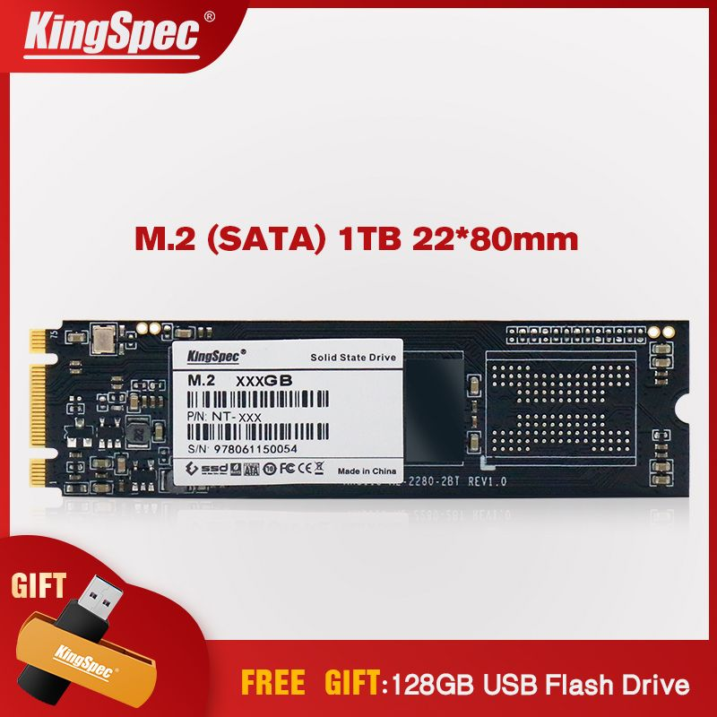 Kingspec M2 SSD 1 TB NGFF 2280 SATA Signal Disco Duro SSD M.2 6 GB/s Interne Solid Festplatte HD disk Modul für Ultrabook/Laptop