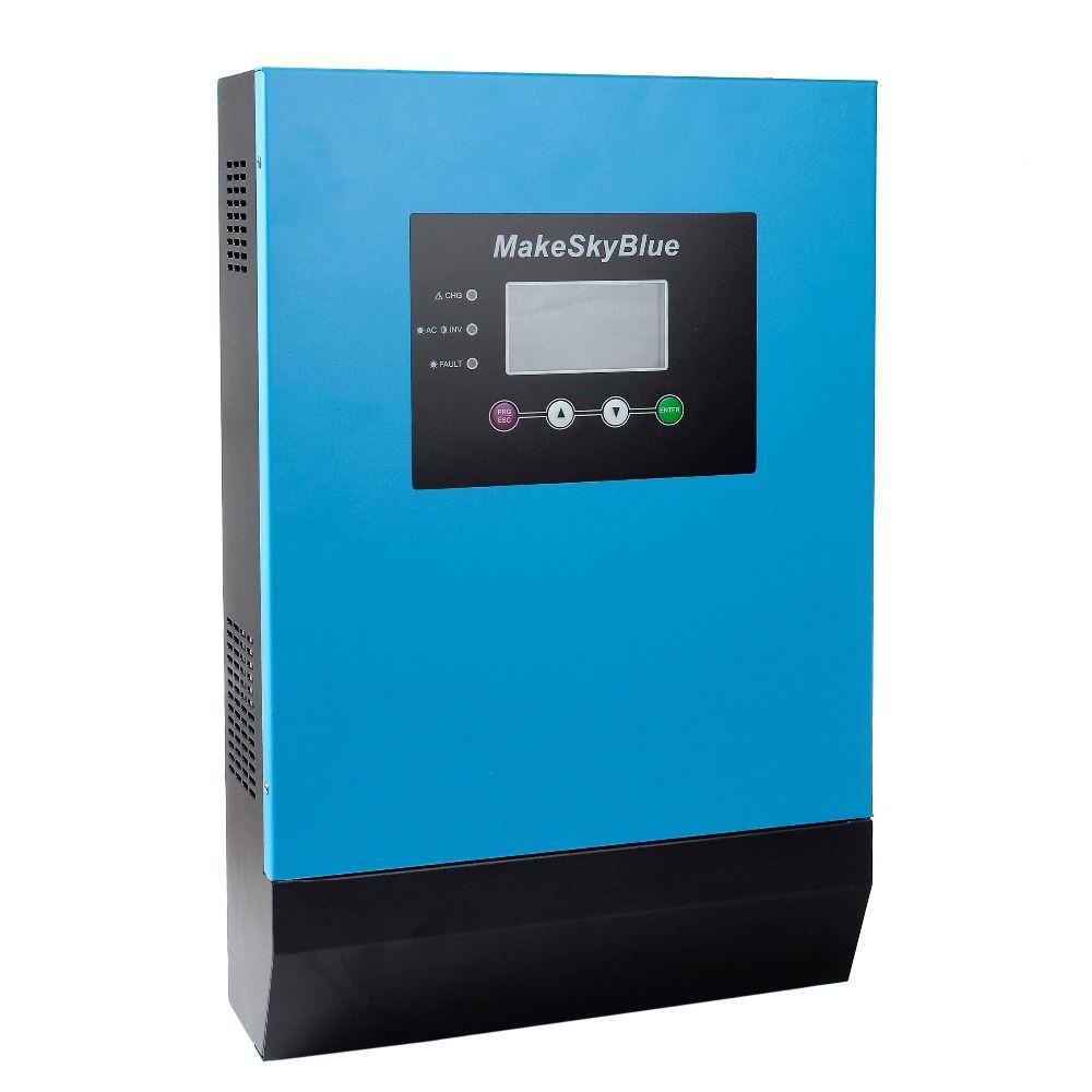 3KVA 2400 watt MPPT HYBRID SOLAR INVERTER CONTROLLER 48 v DC ZU 230 v AC 60A MPPT LADEGERÄT GEBAUT 2016 PLUS VERSION