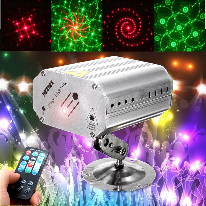Mini Proyector Láser Etapa de Iluminación LED RGB Luz de la Etapa Efecto de Ajuste Dj Party disco Club KTV Decor Lámpara Bombilla EE. UU. Enchufe de LA UE