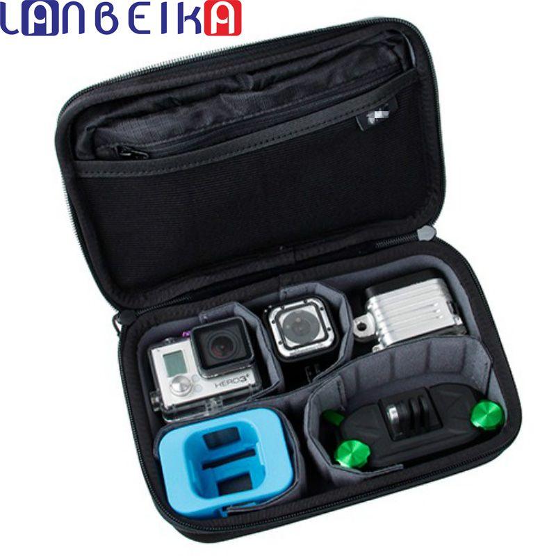 LANBEIKA For Gopro Hero4 Session Casey storage bag Collection Box Case For Hero 6 5 5S 4 4S 3+ 3 SJCAM SJ4000 SJ5000 M20 SJ6 SJ7