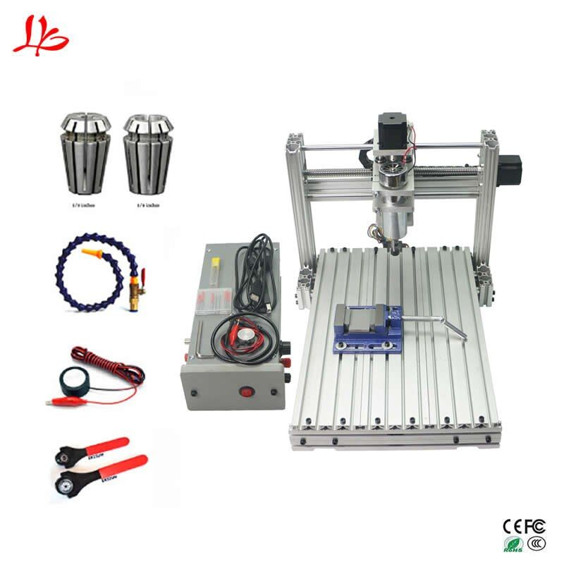 Mini cnc engraving milling machine 3040 3axis ball screw wood carving router USB port
