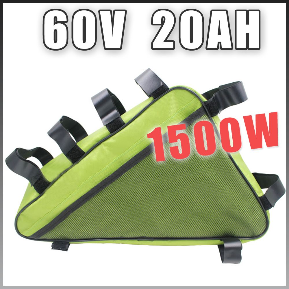 60 V 20AH Dreieck Elektrische Fahrrad lithium-akku 60 V 1500 Watt E bike Batterie