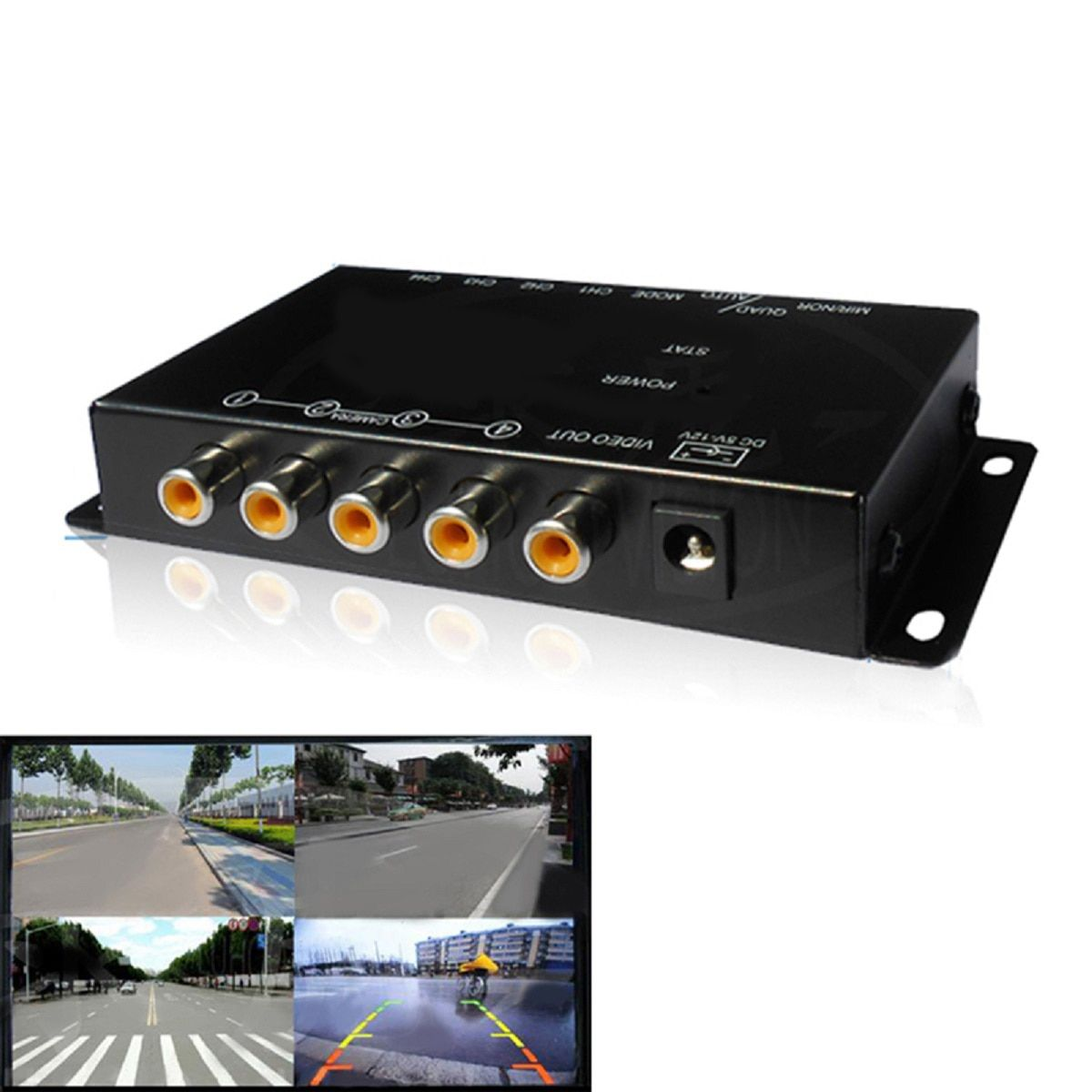 IR control 4 Cameras Video Control Car Cameras Image Switch Combiner Box for Left view Right view Front Rear Parking Camera box