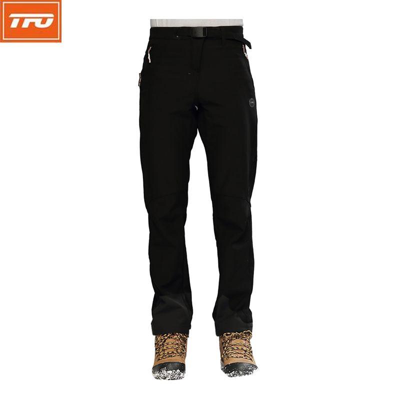 TFO Hommes Randonnée Pantalon Hommes Softshell Pantalon Hiver Polaire Escalade Chasse Imperméable Coupe-Vent Chaud Pantalon De Pêche