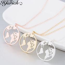 Hfarich Globus Welt Karte Halskette Erde Tag Geschenk Für Beste Freunde Wanderlust Anhänger Personalisierte Fashion Outdoor Halskette Beste