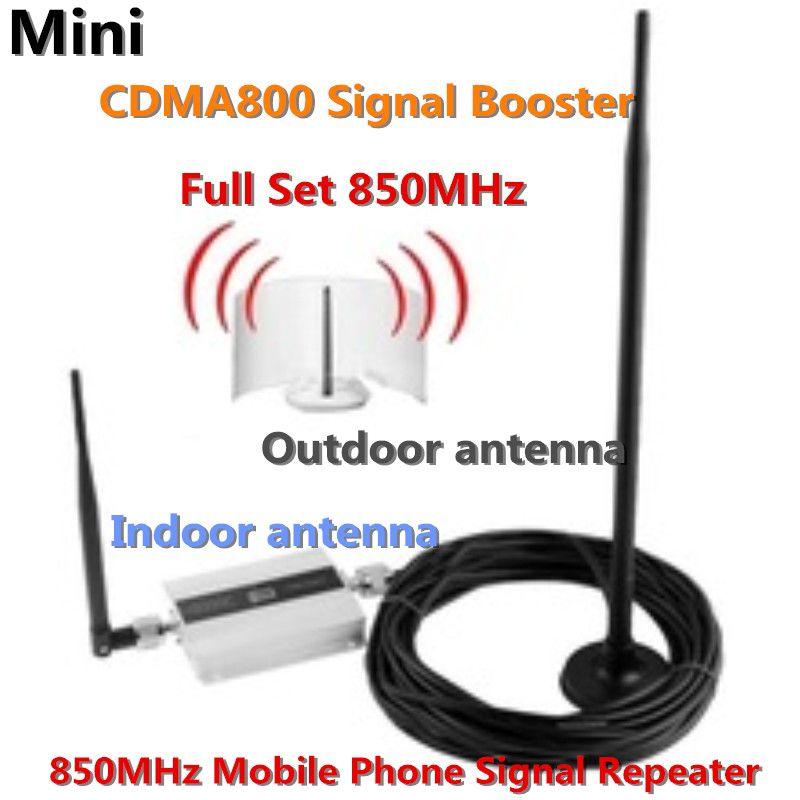 3G 800 MHz 850 mhz GSM CDMA 800 mhz Handy Handy signal Booster Repeater gewinn 55dbi LCD display mit Antenne ein satz