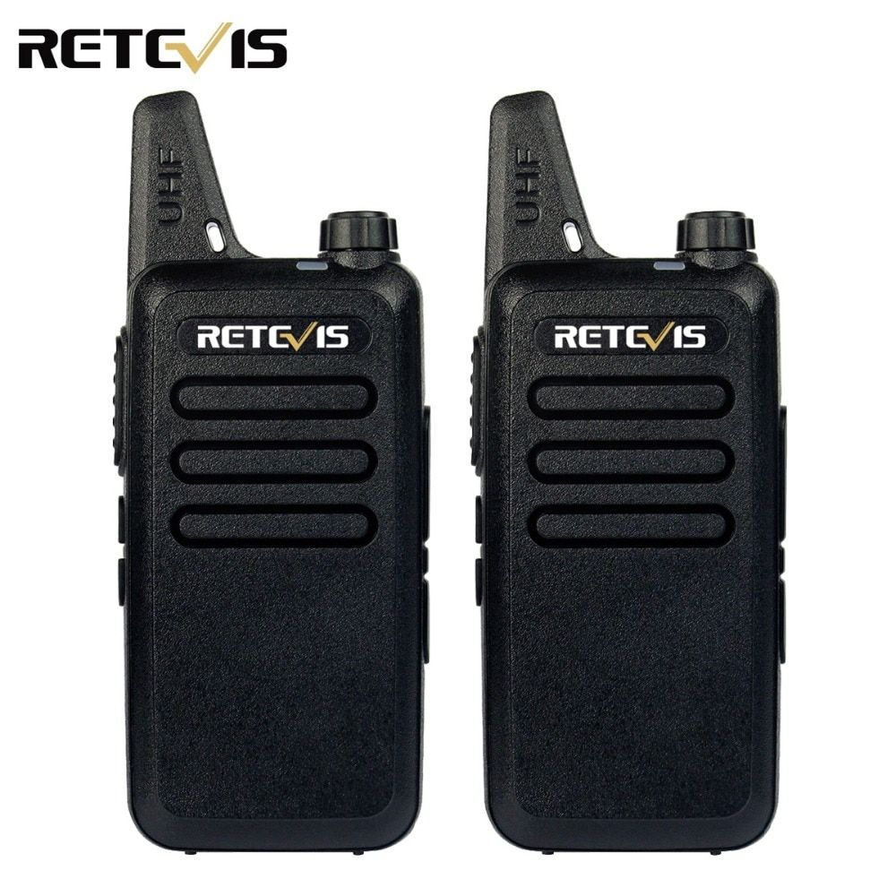 2pcs Mini Walkie Talkie Retevis RT22 2W UHF 400-470MHz 16CH CTCSS/DCS TOT VOX Scan Squelch Two Way Radio Communicator A9121A