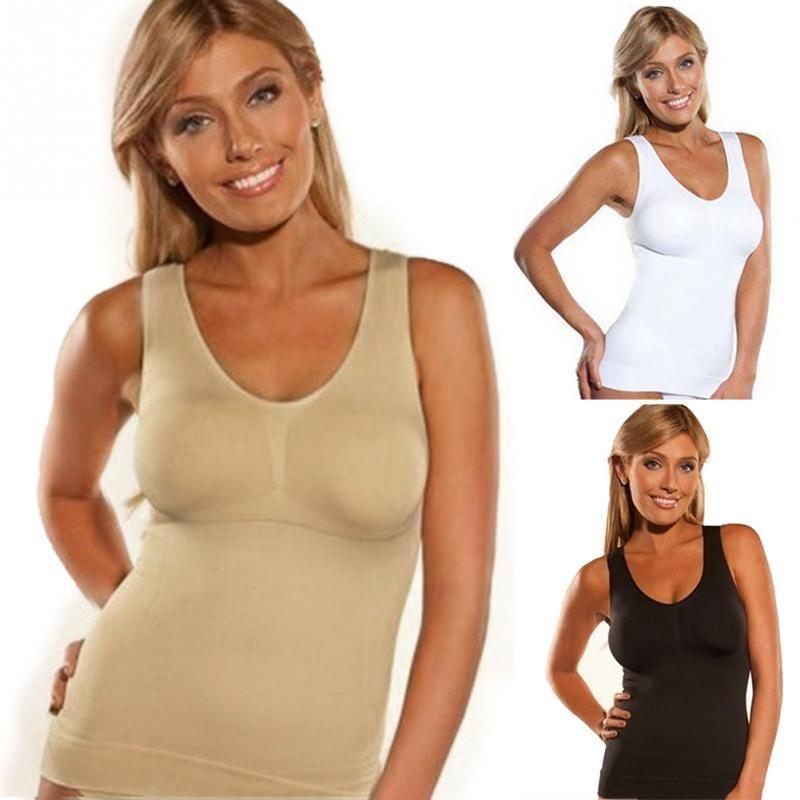 Hot Body Shaper Slim Up Lift Plus Size Bra Cami Tank Top Women Body Shaper Removable Shaper Underwear Slimming Vest Shapewear