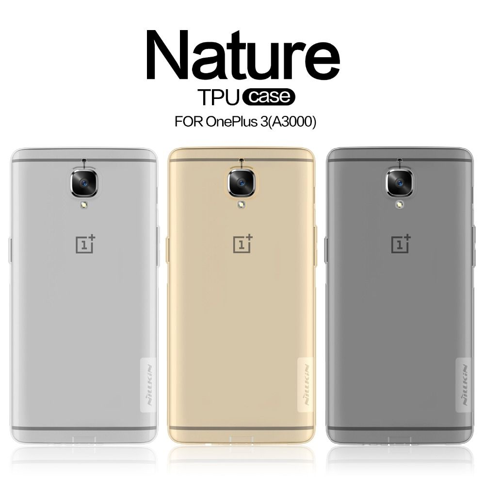 Cas Pour OnePlus 3 Un Plus 3 T D'origine NILLKIN Nature Transparent Molle claire de Couverture Arrière Cas Pour OnePlus 3 T Trois Un Plus 3